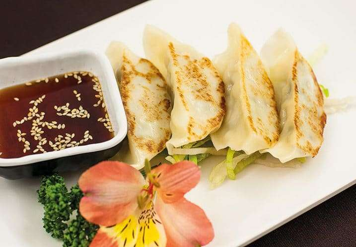 appetizer grilled gyoza