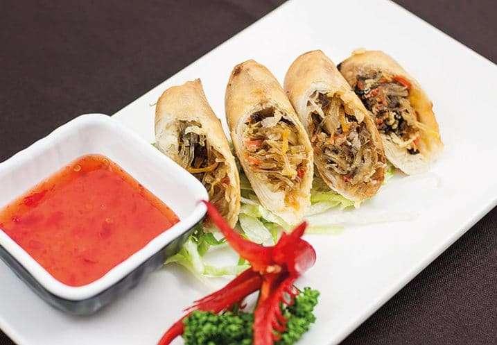 appetizer vegetable spring roll