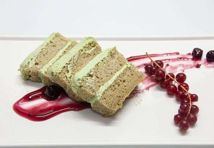 dessert green tea cake