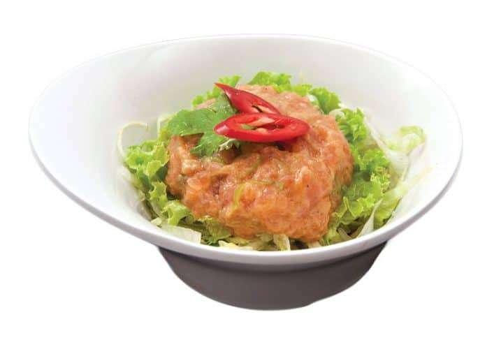salad salmon tartar