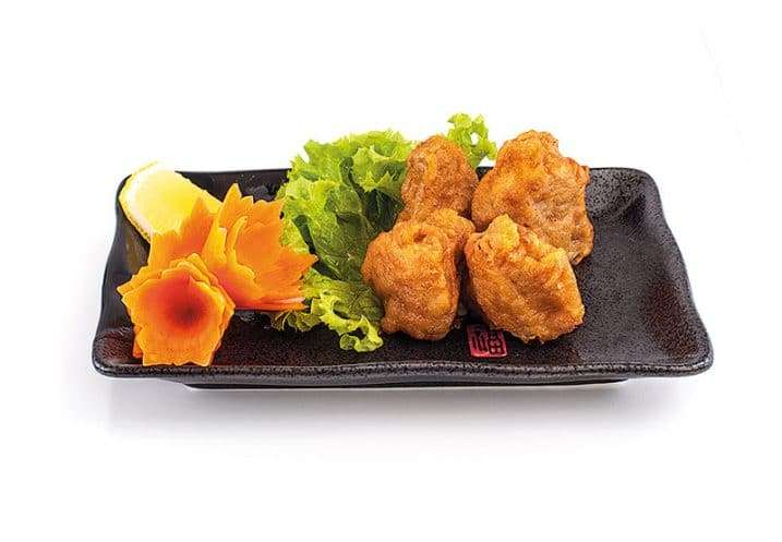 small dish chicken chunks