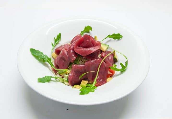 small dish fresh tuna salad 2