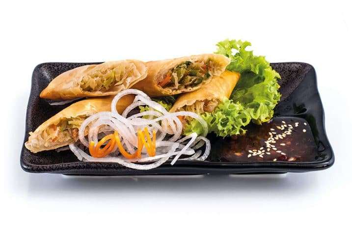 small dish vegetable spring roll
