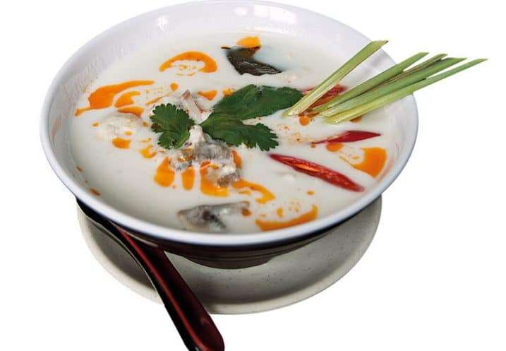 soup chicken and coconut