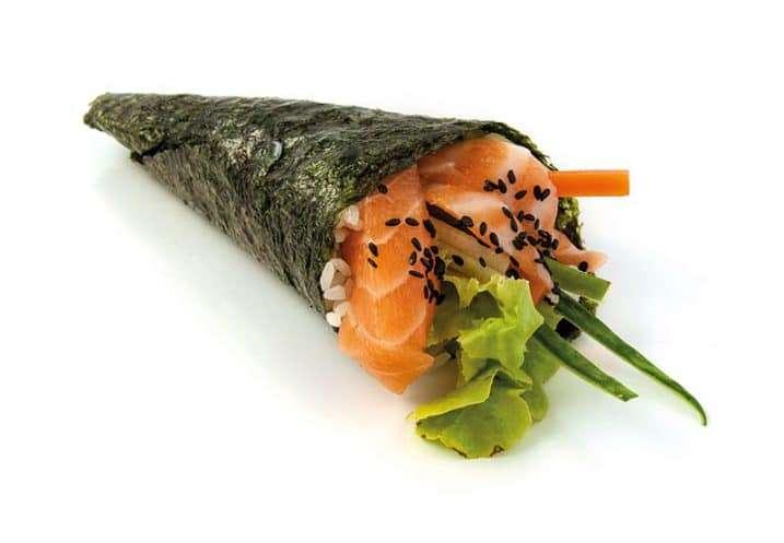 temaki fresh salmon