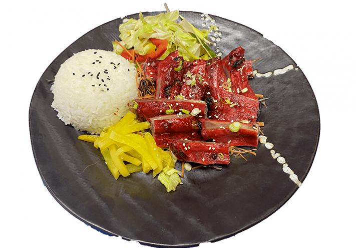 Hong Kong SpareRibs with rice